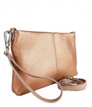 Dámská kožená kabelka FACEBAG MAXA - Metalický pudr *dolaro*