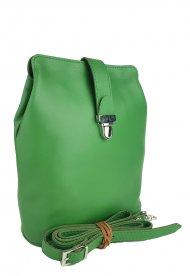 Dámská kožená kabelka FACEBAG ANNA S. - Zelená hladká