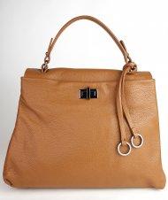 Dámská italská kožená kabelka 3286 - Cuoio *dolaro*