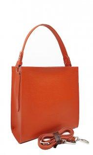 Dámská kožená kabelka FACEBAG ANGE - Oranžová *saffiano*