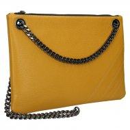 Elegantní dámská kožená kabelka FACEBAG ERIN - Tmavá žlutá *dolaro*
