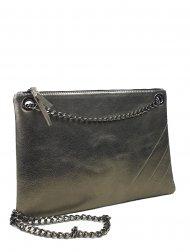 Elegantní dámská kožená kabelka FACEBAG ERIN - Tmavá zlatá