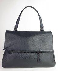 Dámská italská kožená kabelka 5962 - Černá *dolaro