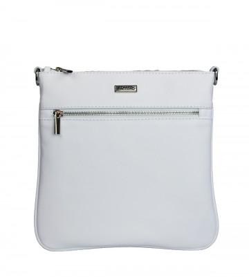 Dámská kožená kabelka FACEBAG VILMA - Bílá