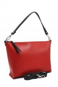 Kožená crossbody kabelka Rachel červená