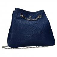 Kožená crossbody kabelka Jadie tmavá modrá