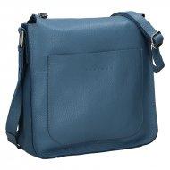 Dámská kožená kabelka FACEBAG LOREN - Modrá *dolaro*