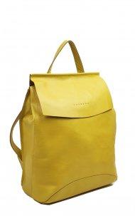Kožený batoh Kenny žlutý