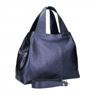 Dámská kožená kabelka FACEBAG SOFI - Metalická modrá