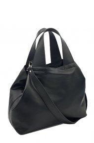 Kožená kabelka Sofi černá hladká