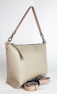 Dámská kožená kabelka FACEBAG RACHEL -  Béžová *saffiano*
