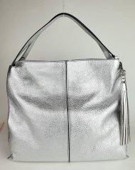 Dámská italská kožená kabelka RIPANI 9194 OL 030 RONDINE - Stříbrná *dolaro*