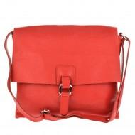 Dámská italská kožená kabelka ARIS - Červená