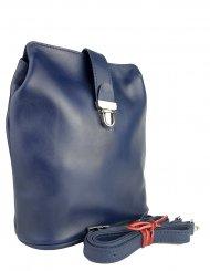 Dámská kožená kabelka FACEBAG ANNA - Tmavá modrá *hladká*