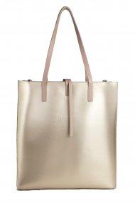 Dámská kožená kabelka FACEBAG REIMS - Zlatá + pudrová *ruga*