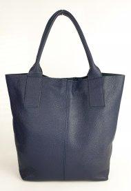 Dámská italská kožená taška 3278 - Tmavá modrá *dolaro*