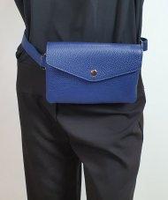 Dámská italská kožená ledvinka 3144 - Modrá *dolaro*