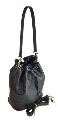 Dámská kožená kabelka FACEBAG LUISA - Černá *dolaro*