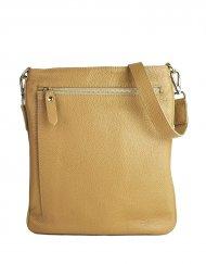 Pánská kožená taška FACEBAG IVO - Světlá hnědá *dolaro*