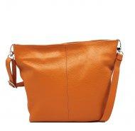 Kožená crossbody kabelka Olivia oranžová