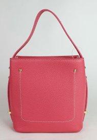 Dámská italská kožená kabelka 2743 - Růžová *dolaro*