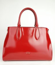 Dámská italská kožená kabelka RIPANI 9761 DD 015 EDERA - Tmavá červená *ruga*