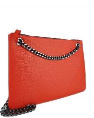 Elegantní dámská kožená kabelka FACEBAG ERIN - Červená *dolaro*