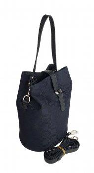 Dámská kožená kabelka FACEBAG KUKY - Černá v kombinaci kůže a látky