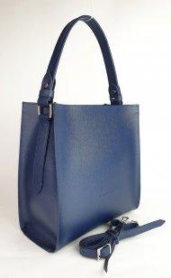 Dámská kožená kabelka FACEBAG ANGE - Modrá *safiano*