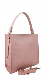 Dámská kožená kabelka FACEBAG ANGE - Růžová oboustranná