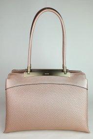 Luxusní dámská kožená kabelka RIPANI 8712 JO 050 CALATEA - Metalická pudrová