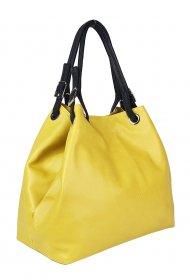Luxusní dámská kožená kabelka FACEBAG LAURA - Ananasová hladká