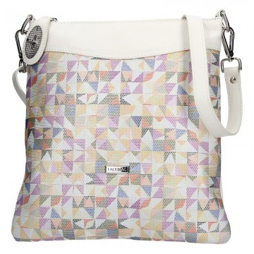 Dámská kožená kabelka FACEBAG SISA - Mozaika + béžová