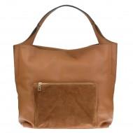 Dámská italská kožená kabelka ALDA - Hnědá