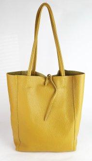 Dámská italská kožená taška 3058 - Tmavá žlutá *dolaro*