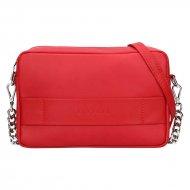 Dámská kožená kabelka FACEBAG NINA  - Červená hladká
