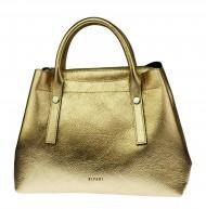 Dámská italská kožená kabelka RIPANI GLASSA - Zlatá