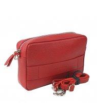 Dámská kožená kabelka FACEBAG NINA - Tmavá červená *dolaro*