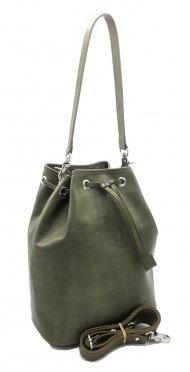 Kožená kabelka Luisa zelená vintage