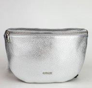 Kožená ledvinka Ripani 7091 OL 030 Easy bag stříbrná