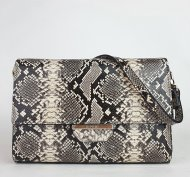 Dámská italská kožená kabelka RIPANI 2051 SP 090 GATTOPARDO - Černá + béžová had