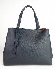 Dámská italská kožená kabelka 85399 - Černá *dolaro*