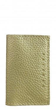 Kožené pouzdro na doklady FACEBAG 115057 - Metalická béžová