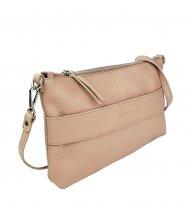 Dámská kožená kabelka FACEBAG MARY - Pudrová *dolaro*