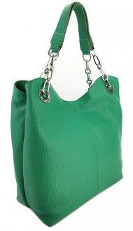 Dámská kožená kabelka FACEBAG AGATA - Zelená *dolaro*