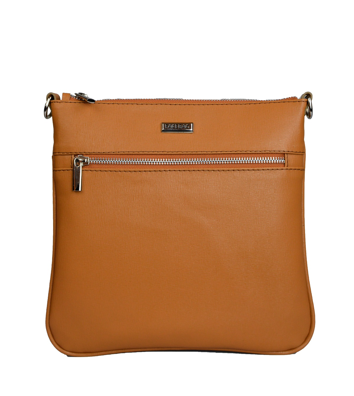 Dámská kožená kabelka FACEBAG VILMA - Cuoio