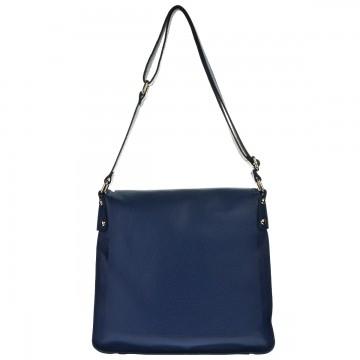 Dámská kožená kabelka FACEBAG ELIDA - Tmavá modrá