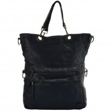 Italská kožená kabelka LIBERATA - Tmavá modrá