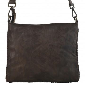 Dámská kožená kabelka MARCINA - Tmavá hnědá
