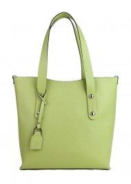 Dámská kožená kabelka FACEBAG IRENE - Světlá zelená